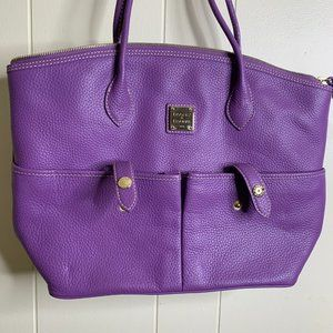 Dooney And Bourke Crescent Leather Tote Purse